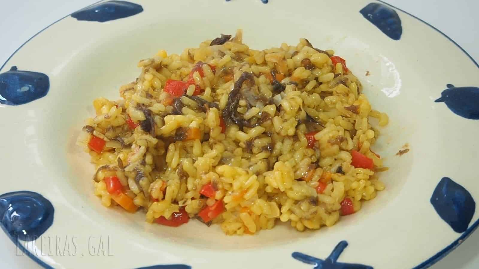 Arroz con algas