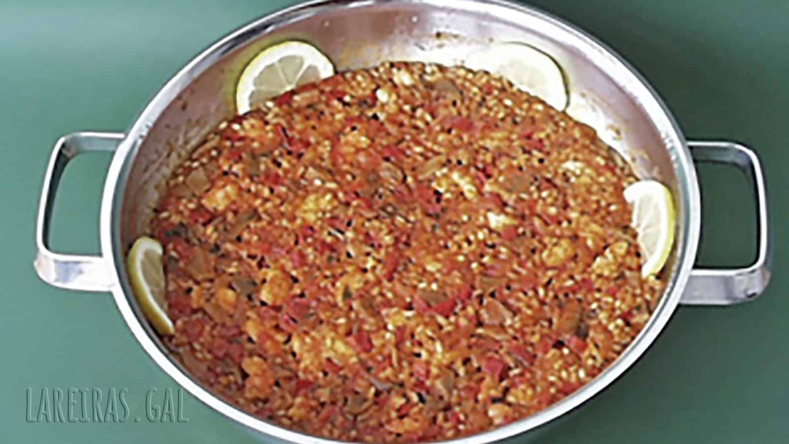 Arroz con cigalitas