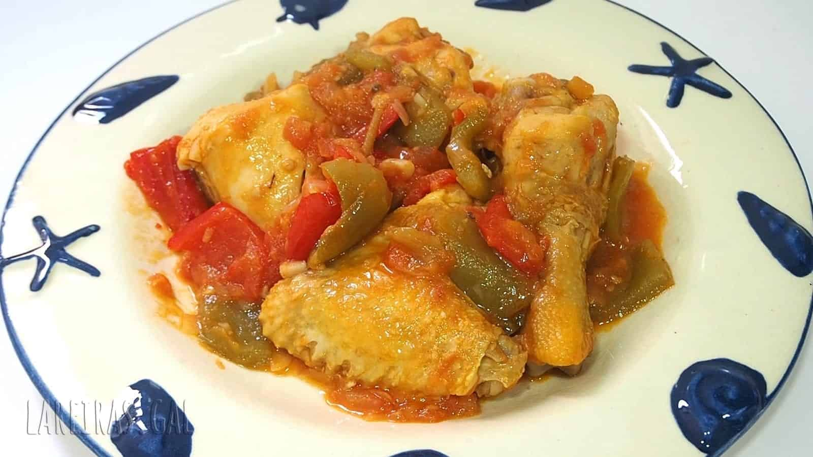 Chicken stew with peppers