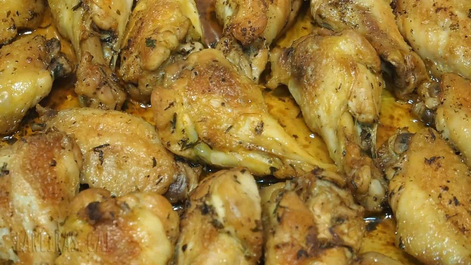 Baked herb chicken wings
